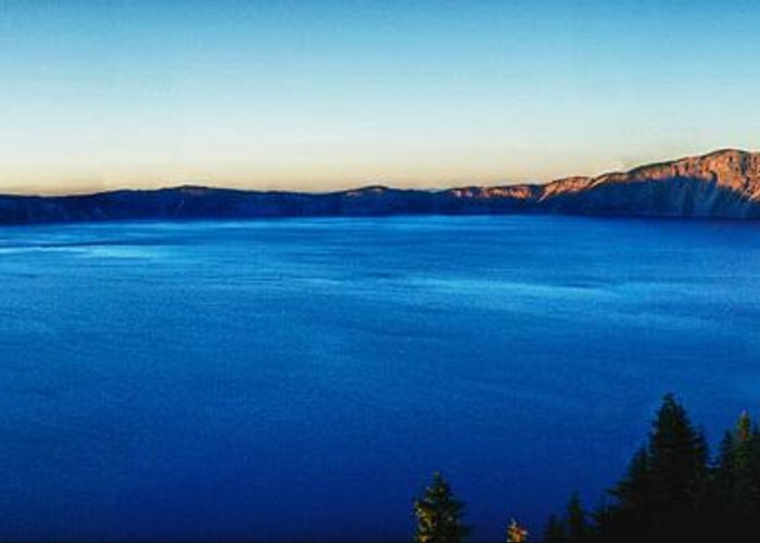 Crater Lake Greeting Card featuring the photograph Blue Blue Blue by Rob Wilson