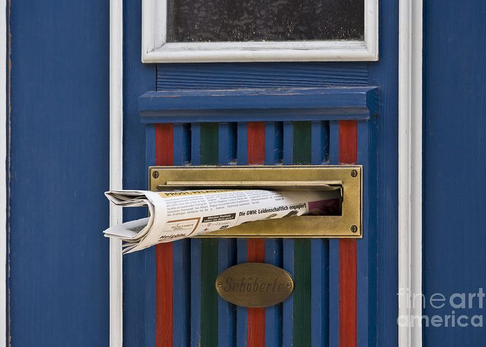 Koehrer-wagner_heiko Greeting Card featuring the photograph Blue Door by Heiko Koehrer-Wagner