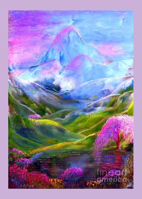 Mountain Greeting Card featuring the painting Blue Mountain Pool by Jane Small