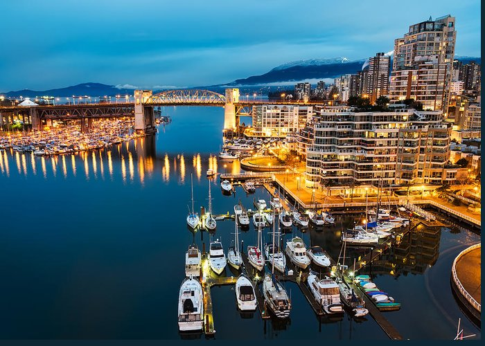Apartment Greeting Card featuring the photograph Blue Vancouver Morning by James Wheeler