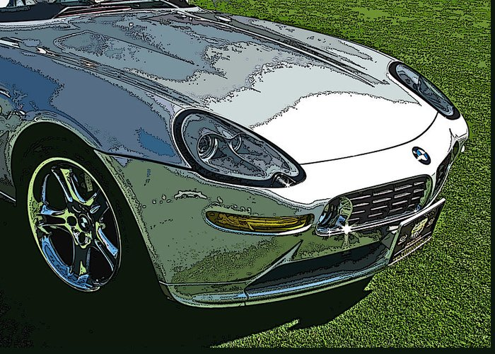 Bmw Greeting Card featuring the photograph Bmw Z8 Nose Study by Samuel Sheats