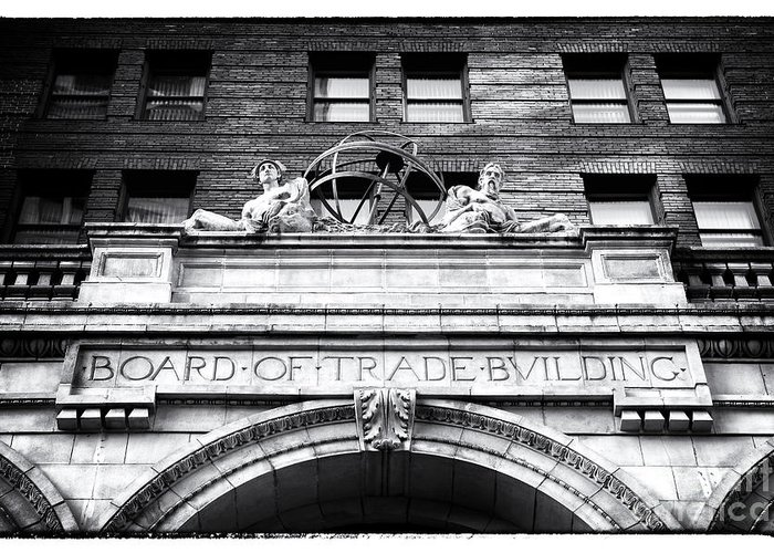 Board Of Trade Building Greeting Card featuring the photograph Board Of Trade Building by John Rizzuto