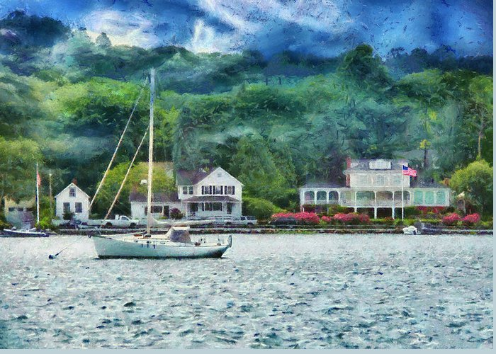 Hdr Greeting Card featuring the photograph Boat - A Good Day To Sail by Mike Savad