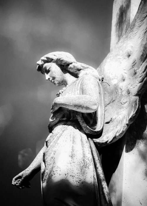 Angel Greeting Card featuring the photograph Bokeh Angel In Infrared by Sonja Quintero