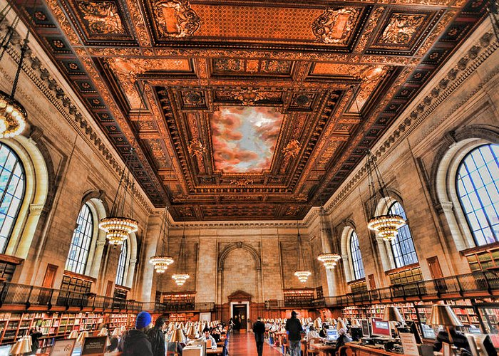 Bryant Park Library Greeting Card featuring the photograph Book Heaven by Tony Ambrosio