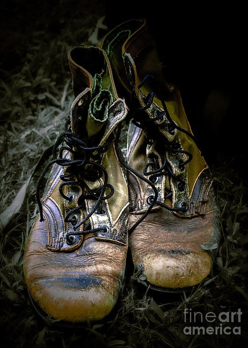 Boots Greeting Card featuring the photograph Boots That Grunt by Steven Digman