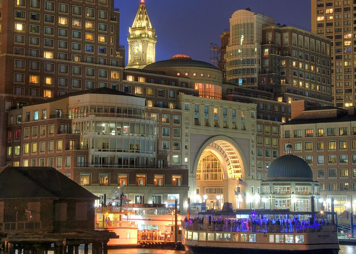 Boston Greeting Card featuring the photograph Boston Harbor Party by Joann Vitali