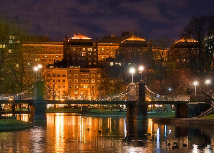 Boston Greeting Card featuring the photograph Boston Lagoon Bridge 2 by Joann Vitali