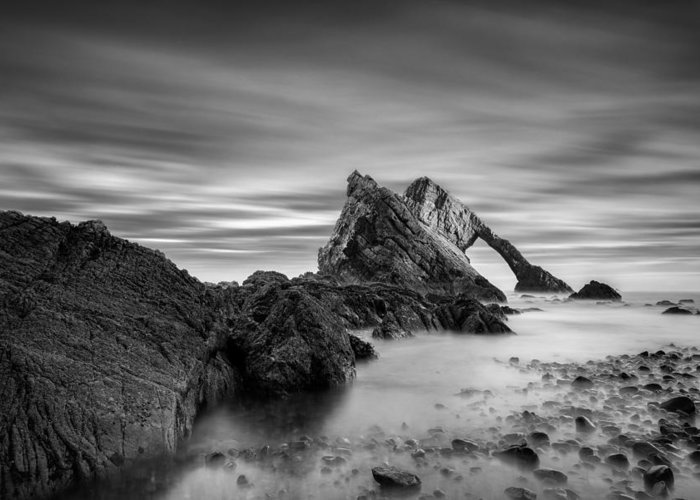 Bow Fiddle Rock Greeting Card featuring the photograph Bow Fiddle Rock 1 by Dave Bowman