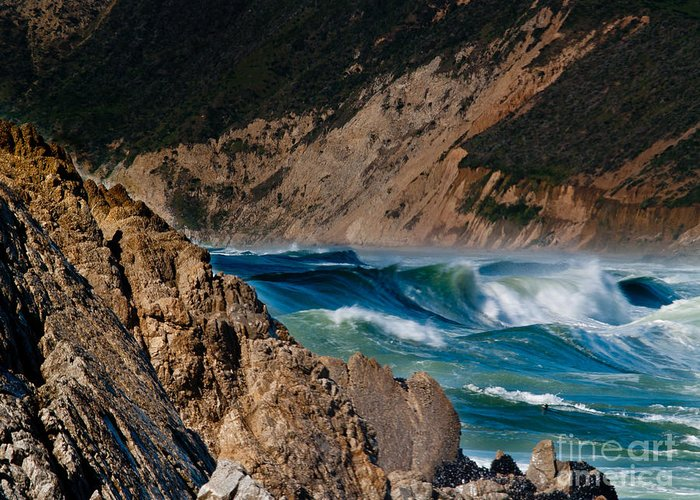 Pt Reyes Greeting Card featuring the photograph Breakers At Pt Reyes by Bill Gallagher