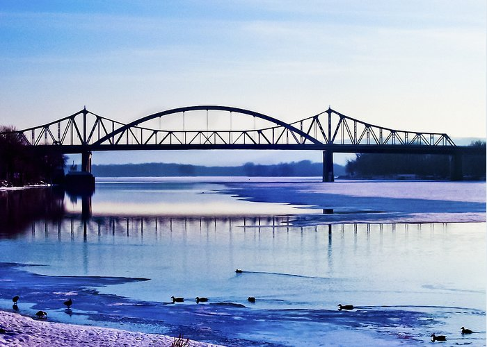 Cantilever Bridge Greeting Card featuring the photograph Bridges Over The Mississippi by Christi Kraft