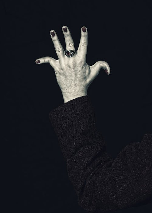 Female Greeting Card featuring the photograph Broken Fingers by Joana Kruse