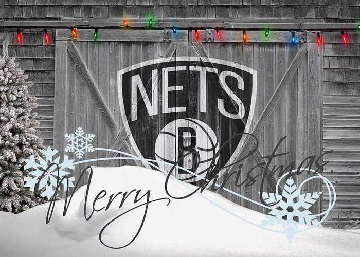 Nets Greeting Card featuring the photograph Brooklyn Nets by Joe Hamilton