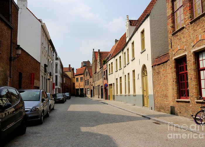 Bruges Greeting Card featuring the photograph Bruges Side Street by Carol Groenen