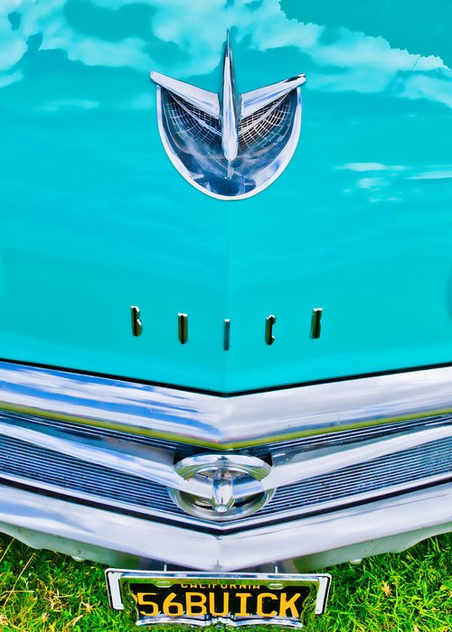 Blue Buick Greeting Card featuring the photograph Buick Grill by Phil 'motography' Clark