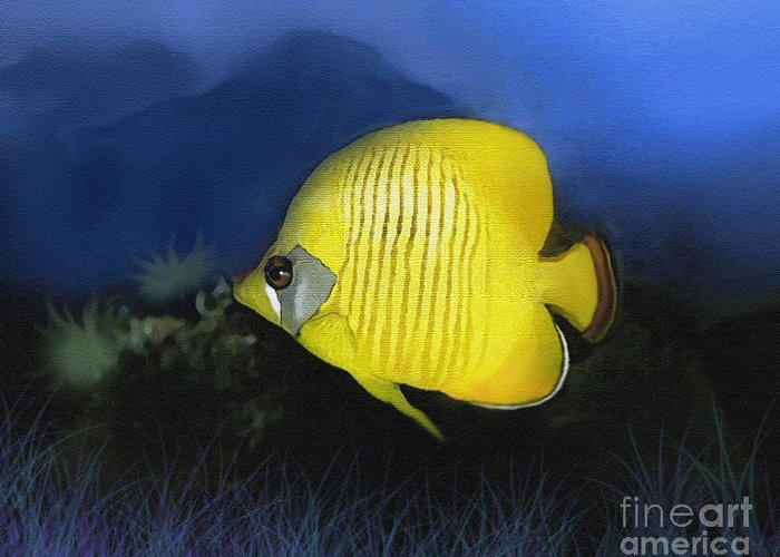 Butterfly Fish Greeting Card featuring the painting Butterfly 2 by Robert Foster