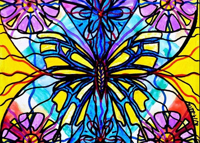 Butterfly Greeting Card featuring the painting Butterfly by Teal Eye Print Store