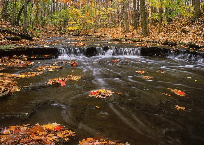 Buttermilk Falls Greeting Card featuring the photograph Buttermilk Falls by Dale Kincaid