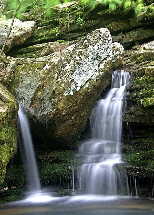 Waterfall Greeting Card featuring the photograph By The Kings River by Marty Koch