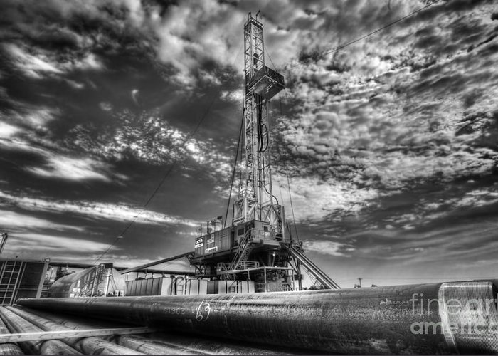Oil Rig Greeting Card featuring the photograph Cac001-6 by Cooper Ross