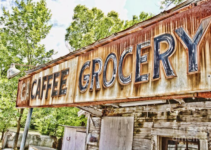 Grocery Greeting Card featuring the photograph Caffee Grocery by Scott Pellegrin