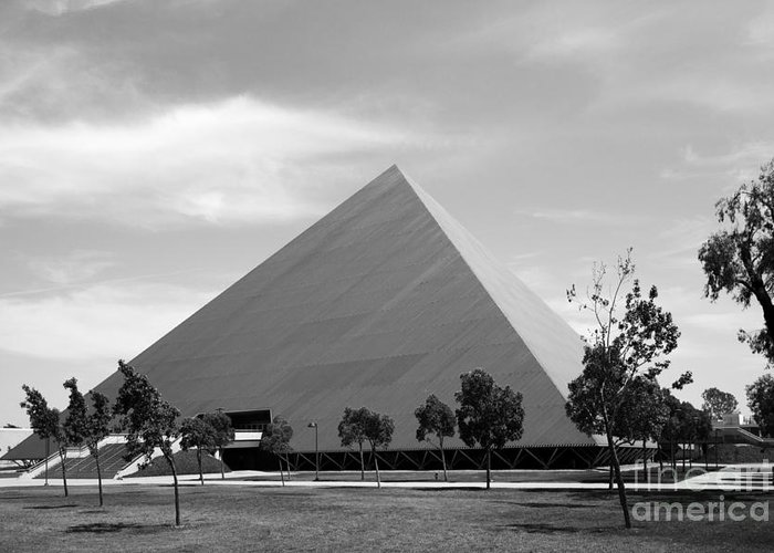 49ers Greeting Card featuring the photograph Cal State University Long Beach Walter Pyramid by University Icons