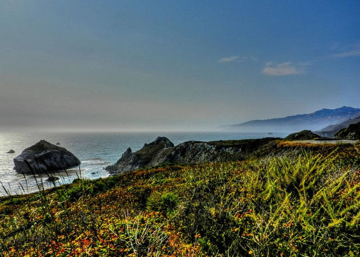 Big Sur California Greeting Card featuring the photograph California - Big Sur 003 by Lance Vaughn