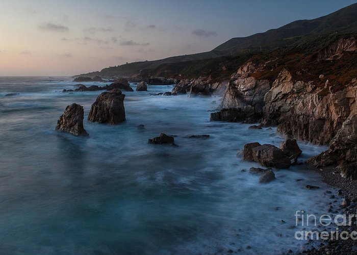 California Greeting Card featuring the photograph California Coast Dusk by Mike Reid