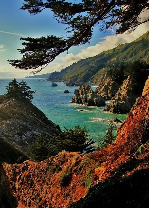 California Coast Greeting Card featuring the photograph California Coastline by Benjamin Yeager