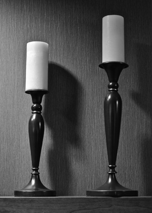 Candlestick Greeting Card featuring the photograph Candlestick by Frozen in Time Fine Art Photography