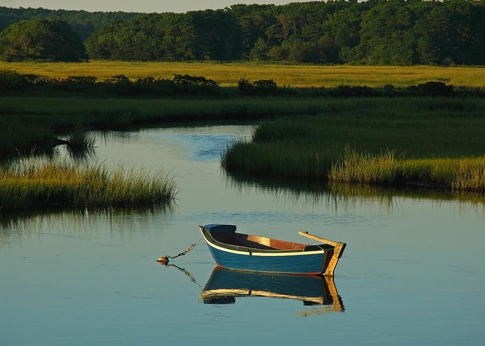 Blue Greeting Card featuring the photograph Cape Cod Quietude by Juergen Roth