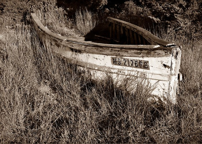 Boat Greeting Card featuring the photograph Cape Cod Skiff by Luke Moore