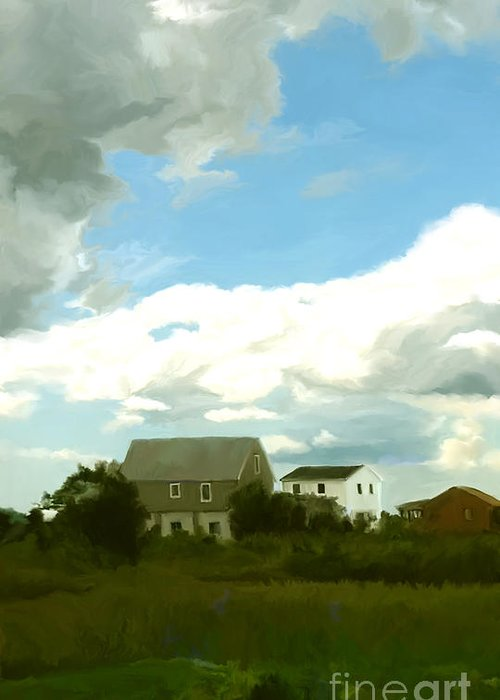 Cape Greeting Card featuring the painting Cape House by Paul Tagliamonte