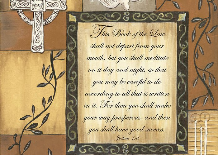 Scripture Greeting Card featuring the painting Caramel Scripture by Debbie DeWitt