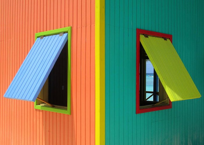 Caribbean Corner Greeting Card featuring the photograph Caribbean Corner 4 by Randall Weidner