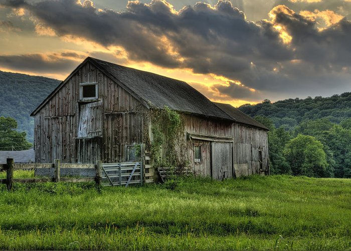 Farms And Barns Greeting Card featuring the photograph Casey's Barn by Thomas Schoeller