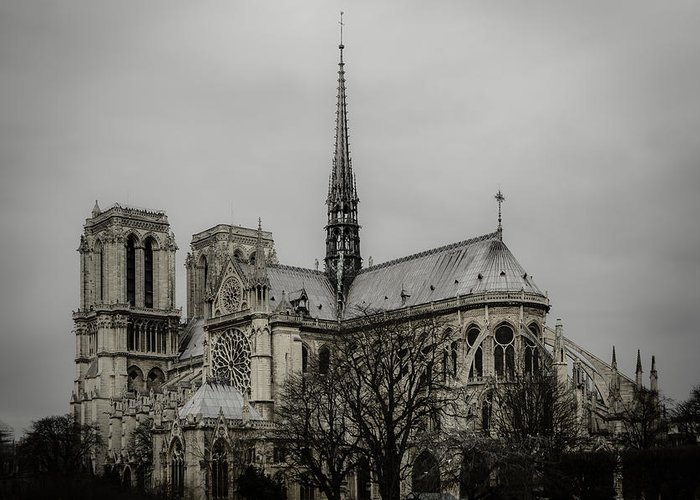 Notre Dame Greeting Card featuring the photograph Cathedral Of Notre Dame De Paris by Marco Oliveira