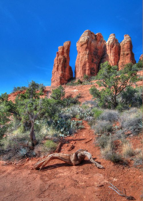 Cathedral Rock Greeting Card featuring the photograph Cathedral Rock by Lori Deiter