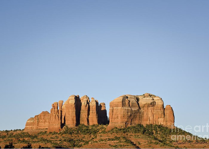 Cathedral Greeting Card featuring the photograph Cathedral Rock Vi by Dave Gordon