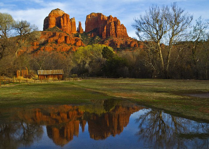 Cathedral Rock Greeting Card featuring the photograph Cathedral by Tom Kelly
