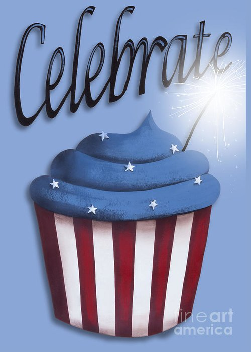 Art Greeting Card featuring the painting Celebrate The 4th / Blue by Catherine Holman