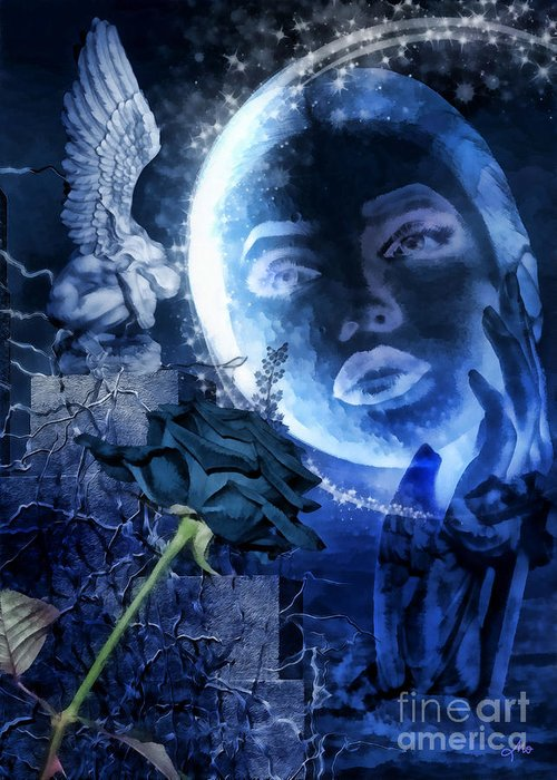 Celestine Greeting Card featuring the digital art Celestine by Mo T