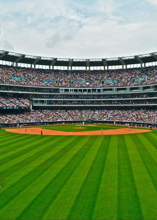 Centerfield Greeting Card featuring the photograph Center Field by Frozen in Time Fine Art Photography