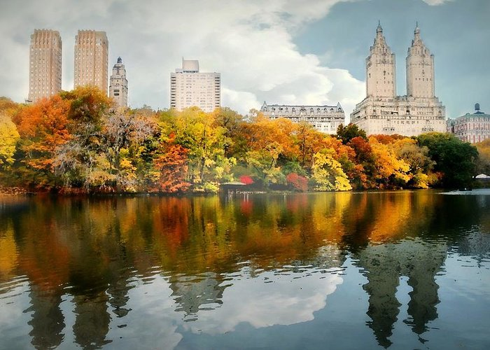 Landscape Greeting Card featuring the photograph Central Park #1 by Diana Angstadt
