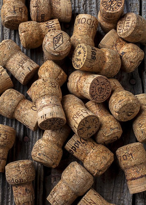 Champagne Greeting Card featuring the photograph Champagne Corks by Garry Gay