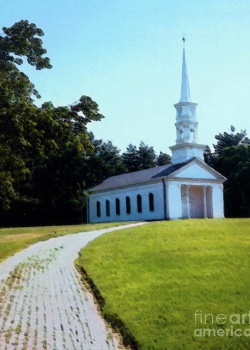 Church Greeting Card featuring the photograph Chapel At The Wayside Inn by Desiree Paquette