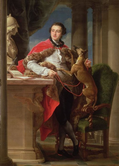 Peer Greeting Card featuring the painting Charles Compton, 7th Earl by Pompeo Girolamo Batoni