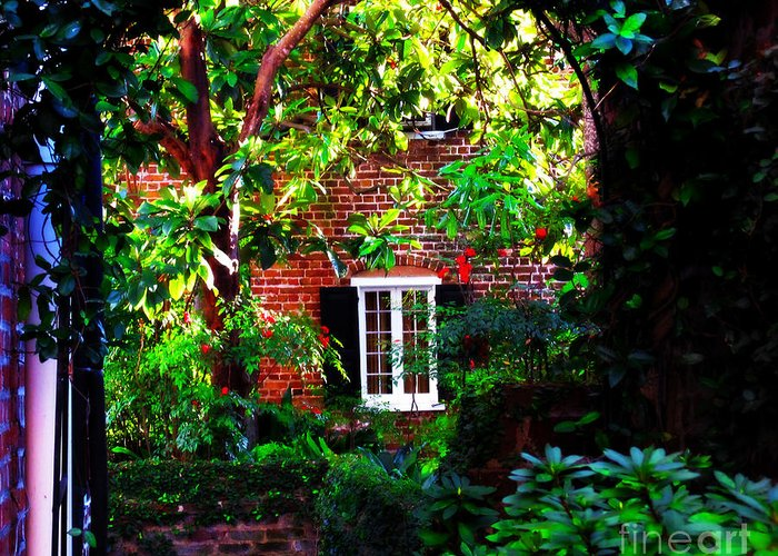 Charlestons Charm Greeting Card featuring the photograph Charleston's Charm And Hidden Gems by Susanne Van Hulst