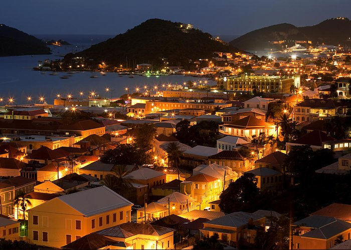 Charlotte Greeting Card featuring the photograph Charlotte Amalie St Thomas Usvi by Susan Degginger