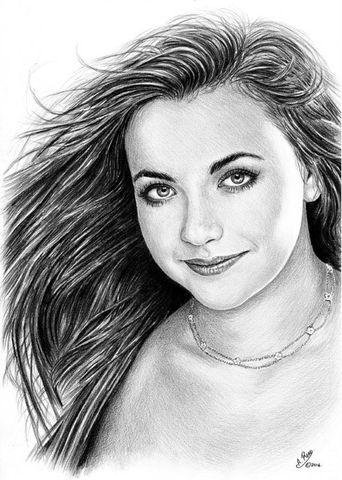 Charlotte Church Greeting Card featuring the drawing Charlotte Church by Andrew Read